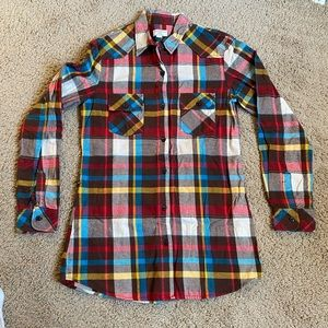 NWOT - Flannel Plaid Button-Up Long Sleeve